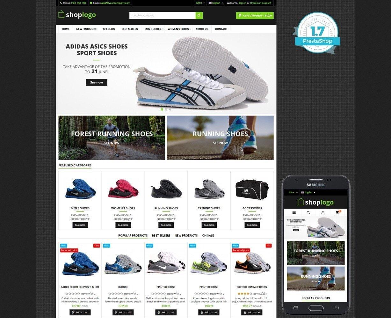 Szablon prestashop Sport and Shoes