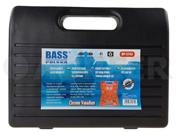 Zestaw do tłoczków hamulcowych 18el. Adpeer Bass Polska