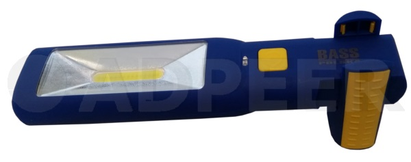 Lampa warsztatowa LED magnesem i hakiem Bass