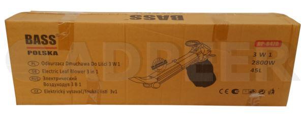 Adpeer Bass Dmuchawa do liści 2800W 45L