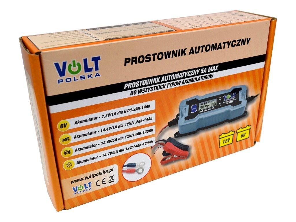 Adpeer Volt Prostownik Volt Polska 5A 6/12V LCD