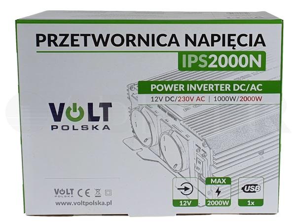 Adpeer Volt Przetwornica napiÄ™cia Volt Polska 1000/2000W 12V IPS 2000N